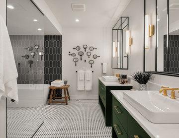 Geometric Tile in Master Bath