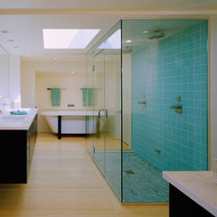 modern bathroom by Moore Architects, PC
