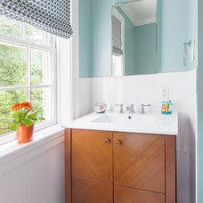 Transitional Bathroom by Stuart Nordin Design