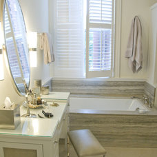 Transitional Bathroom by Zoe Feldman Design, Inc.