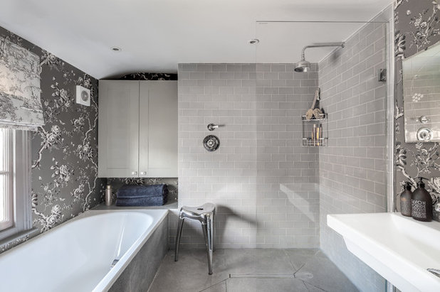 Transitional Bathroom by Arq-A Interiors Limited