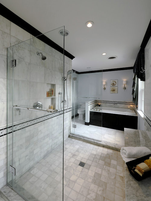 Marble tile bathroom houzz for New bathtub designs