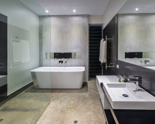Modern Bathroom Design Ideas Renovations Photos With A Freestanding
