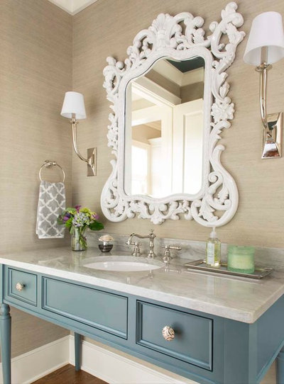 Transitional Bathroom by Armijo Design Group