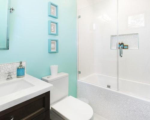 blue and white bathroom | houzz