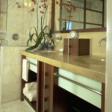 Eclectic Bathroom by Square One Interiors