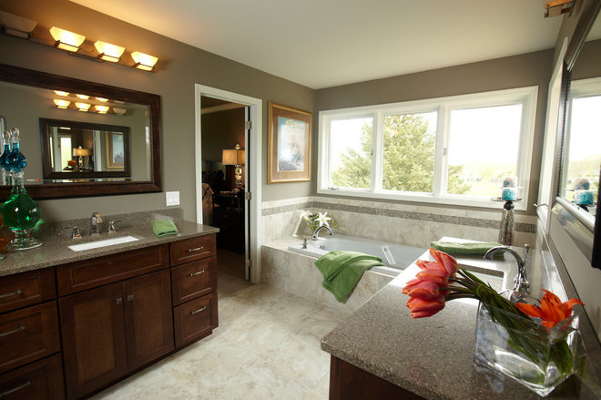 Traditional Bathroom by Jaque Bethke for PURE Design Environments Inc.