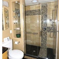 Eclectic Bathroom by Wilson Design