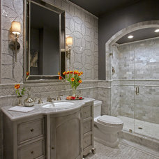 Eclectic Bathroom by Cindy Smetana Interiors