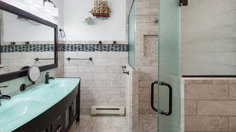 Glass and Tile Bathroom