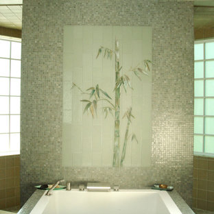 Bathroom - tropical bathroom idea in Charlotte