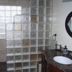 Glass Block Shower Traditional Bathroom Cleveland