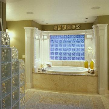 Glass Block Shower Walls