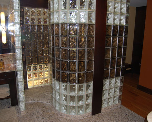 Glass block shower home design ideas pictures remodel and decor - Glass block decoration ideas ...