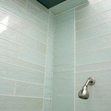 Traditional Bathroom by Marin Designworks Glass Tile Design & Waterjet Art