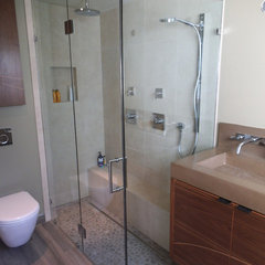contemporary bathroom by Old Town Glass