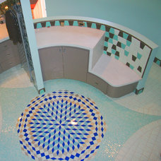 Eclectic Bathroom by Marin Designworks Glass Tile Design & Waterjet Art