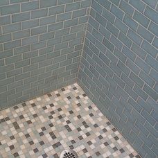 Traditional Bathroom Glass Tile Shower