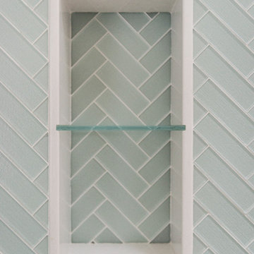 Glass Tile Shower Niche