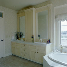 Farmhouse Bathroom by Calder Creek Cabinetry & Design