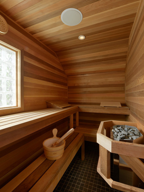 badezimmer mit eckdusche und sauna ideen design bilder houzz. Black Bedroom Furniture Sets. Home Design Ideas