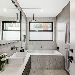Contemporary bathroom in Melbourne.