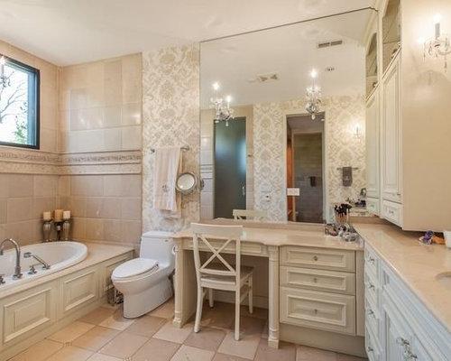 badezimmer mit onyx waschtisch und zementfliesen design. Black Bedroom Furniture Sets. Home Design Ideas