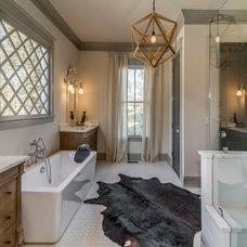 Transitional Bathroom by Millworks Designs