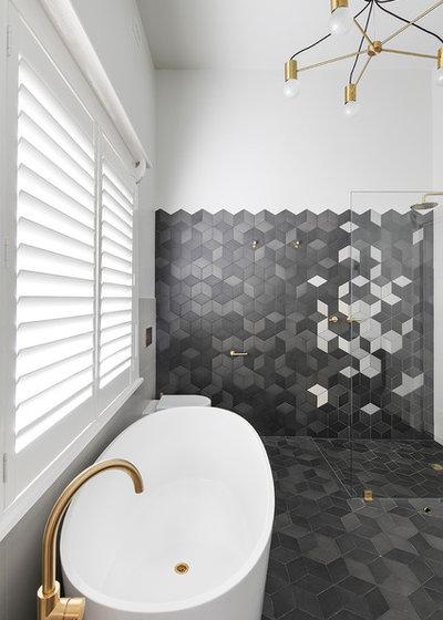 Contemporaneo Stanza da Bagno by Fabrikate Creative Spaces