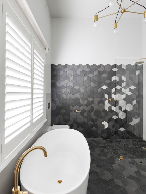 This Is An Example Of A Contemporary Master Bathroom In Adelaide With  Furniture Like Cabinets