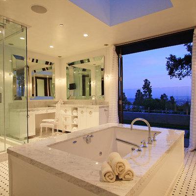 Trendy mosaic tile bathroom photo in Los Angeles