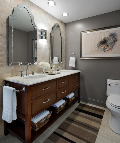 Transitional Bathroom by Stephen Young Design LLC