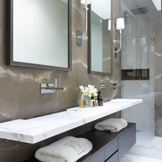 Contemporary Bathroom by Joseph Trojanowski Architect PC