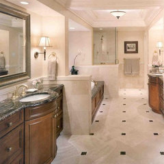traditional bathroom by Downey Robbins Szafarz Architects Inc.
