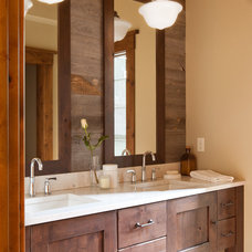 Rustic Bathroom by Terra Firma Custom Homes