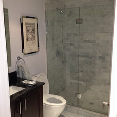 Traditional Bathroom by Gordon and Sons Glass, Mirrors and Shower Doors