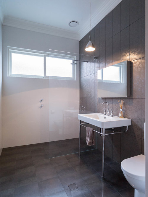 Sydney bathroom design ideas renovations photos with a console sink - Bathroom design sydney ...
