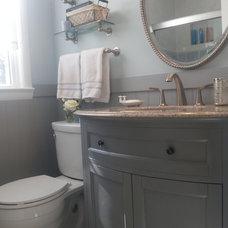 Transitional Bathroom by Antoinette Ricafort for Ethan Allen Arlington,Va