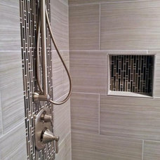 Contemporary Bathroom by SkilledSet Flooring and Walls