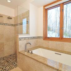 Transitional Bathroom by Advantage Carpentry & Remodeling, LLC