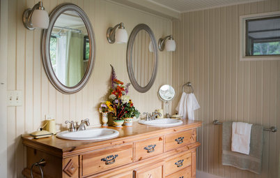 15 Vintage Cabinets Become One-of-a-Kind Bathroom Vanities