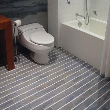 Grace's Bathroom - Custom Bath Floor