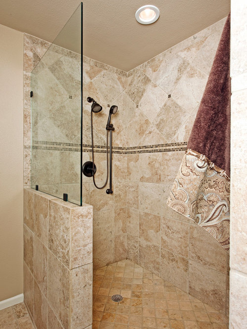Showers without doors home design ideas pictures remodel and decor Bathroom remodel ideas with stand up shower