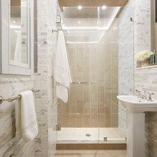 Transitional Bathroom by Elise Som Design Studio