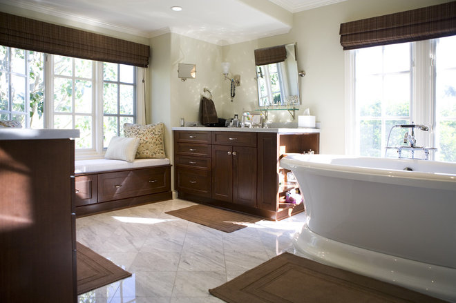 Traditional Bathroom by DZines By Nicole