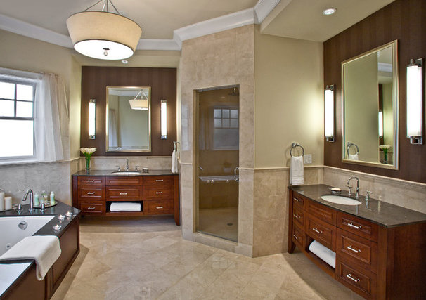Traditional Bathroom by TZS Design