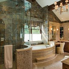 Traditional Bathroom by Teton Heritage Builders