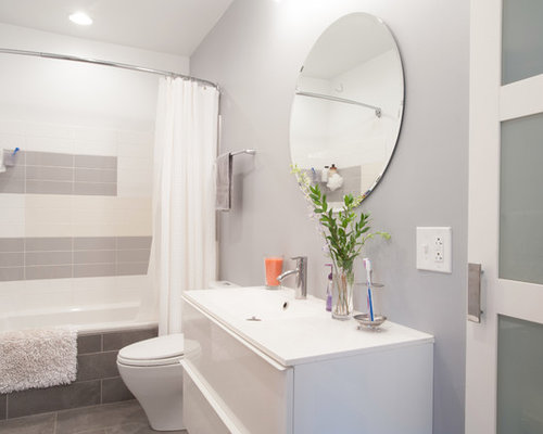 White Bathroom Interior Design gray and white bathroom | houzz