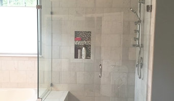 Gray and White Marble Master Bath
