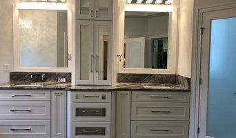 Gray & White Modern Master Bath